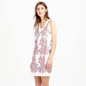 NWOT J. Crew Linen Iridescent Sequin Tank Dress